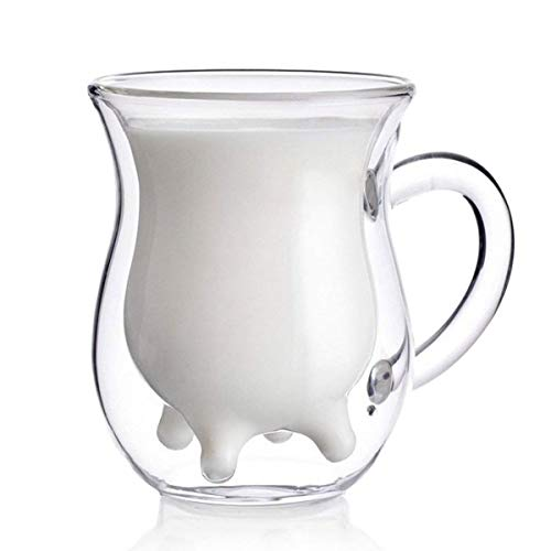 (Hwagui - Personalized Heat-Resistant Double Wall Glass Cup & Mug For Milk, Juice, Tea And Coffee 250ml/8.5oz)