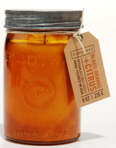Orange Relish - Paddywax Relish Collection Scented Soy Wax Jar Candle, 9.5-Ounce, Blood Orange & Citrus