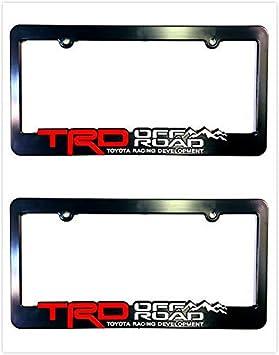 Xitek TF-ORR 3D Emblem SR5 TRD Off Road Racing Development License Plate Holder Frame Cover for Tundra Tacoma 4 Runner Land FJ Cruiser 2 Red