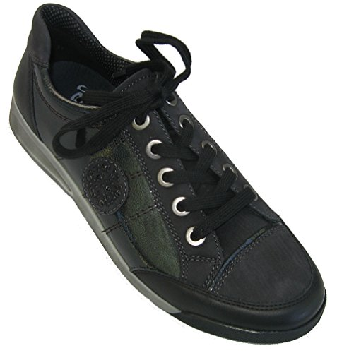 ara ROM, Women Derby Lace-up Black - Black
