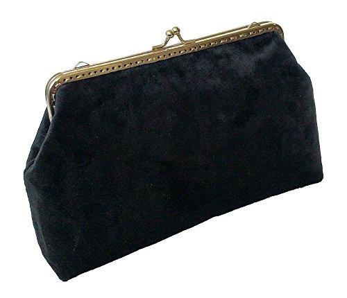 Cocktail Gorgeous Clutches in Handbags AITING Velvet Evening Black 58q56R