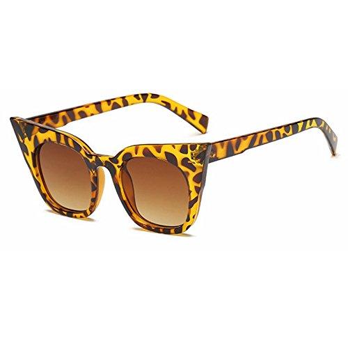 De De Gafas De giallo De Gafas Ojo Mujer Moda Sol Sol Amarillo Colore De De TIANLIANG04 Vintage Gafas Gato Gafas Uv400 Tonos De Sol Negro Color qnIw114YP