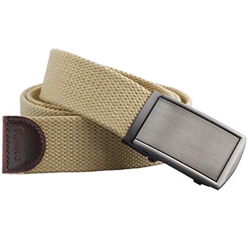 Samtree Canvas Web Belts for Men Womens,Adjustable Military Automatic Buckle (Ladies Canvas Belts)