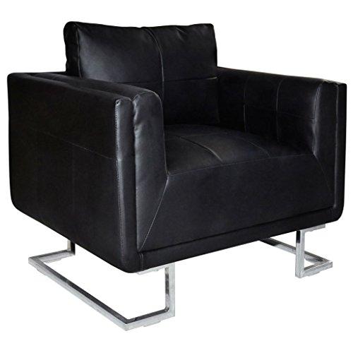 Amazon.com: K&A company Black Luxury Cube Armchair with ...