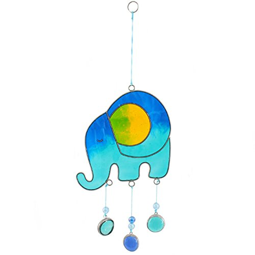 Jones Home and Gift Something Different Wholesale Elephant Sun Catcher, Blue