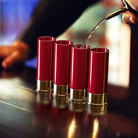 12 Gauge Shot Glasses Set of 4 – Made in the USA