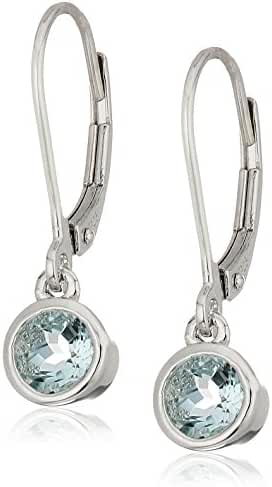 Silver Morganite Lever Dangle Earrings