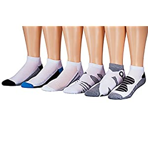 James Fiallo Mens 6-Pack Low Cut Athletic Socks, Size 10-13 Fits shoe 6-12, 2892-6