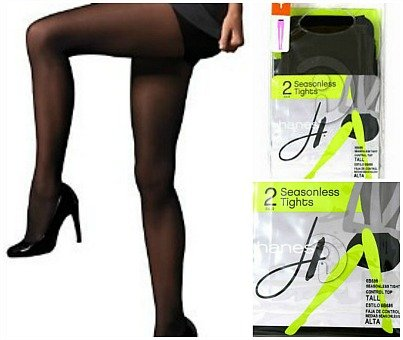 - Hanes Womens 2-Pair Seasonless Control Top Tights Black (Small(95/140 lbs))