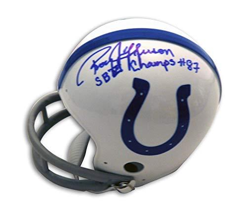 Roy Jefferson Baltimore Colts Autographed Riddell Replica Mini Helmet Inscribed SB V Champs - Certified Authentic Signature (Baltimore Signature Helmet)