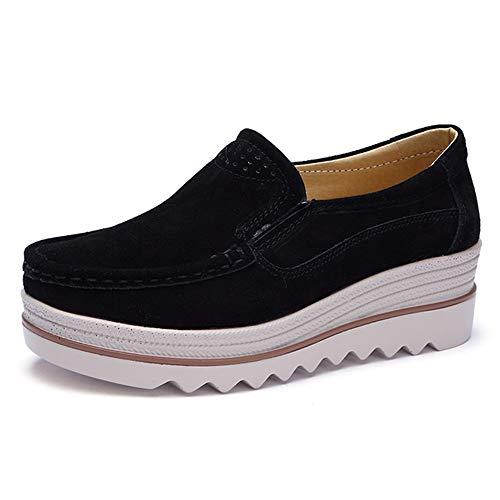 勉強する平手打ち海藻WUIWUIYU  厚底靴 レディース ウォーキングシューズ 婦人 スニーカー 軽い 通気 美脚 歩くやすい 通勤靴 大きいサイズ