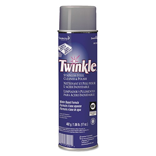 Twinkle Stainless Steel Cleaner & Polish, 17 Oz (Cleaning Stainless Steel Appliances With Baby Oil)