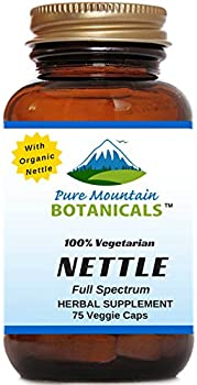 Full Spectrum Nettle Leaf Capsules- Kosher Veggie Cap - Ct. 75 x 500mg - Made with Organic Stinging Nettles Leaf Powder. No Magnesium Stearate, Sodium Benzoate Or GMOs