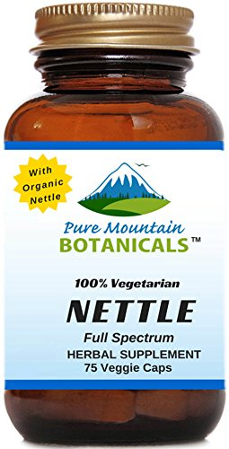 Full Spectrum Nettle Leaf Capsules- Kosher Veggie Cap - Ct. 75 x 500mg - Made with Organic Stinging Nettles Leaf Powder. No Magnesium Stearate, Sodium Benzoate Or GMOs