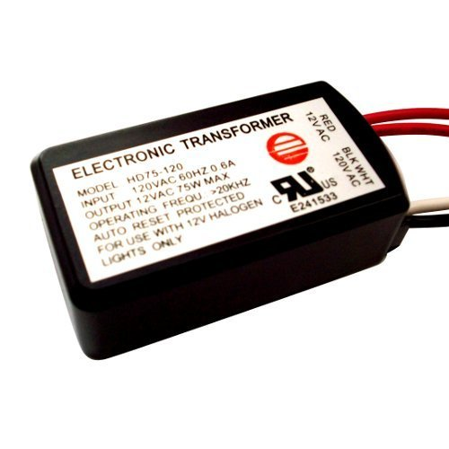 HC Lighting - Halogen / Xenon Electronic Transformer 75 Watt Max output 120 Volt Input / 12 Volt Out Put Potted Transformer