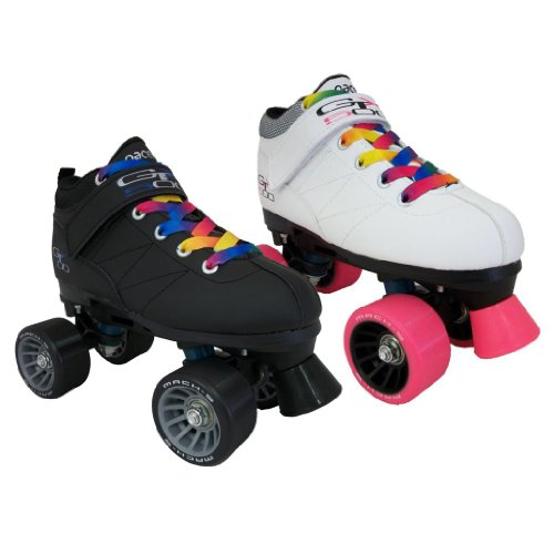 UPC 175067248129, Pacer Mach-5 GTX500 Quad Speed Roller Skates with Rainbow Laces