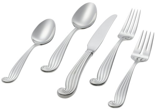 Ginkgo International LaMer 20-Piece Stainless Steel Flatware Place Setting, Service for 4
