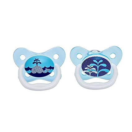 Dr Brown s prevent chupete (0 A 6 meses, color azul, pack de 2)