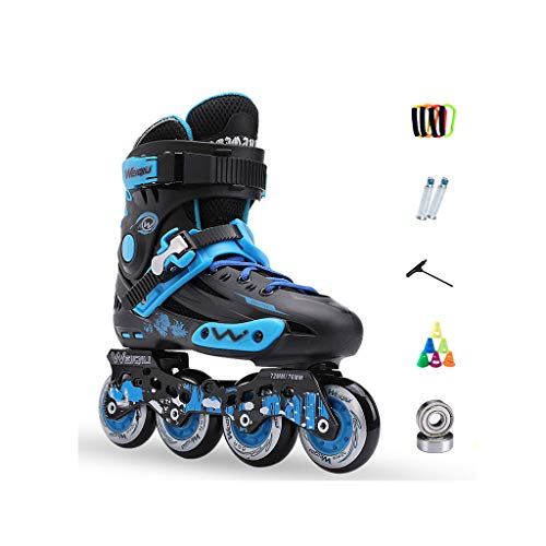 在庫しおれた突破口ailj インラインスケート、スケート、大人の子供、男性と女性、ローラースケートのセット、プロのコンビネーション、多機能スケート(3色) (色 : 黒, サイズ さいず : EU 42/US 9/UK 8/JP 26cm)