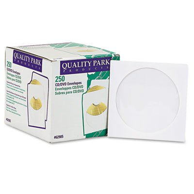 s - Quality Park - CD/DVD Sleeves, 250/Box - Sold As 1 Box - Sturdy sleeves. - Clear poly window. - Protects from static and debris. ()