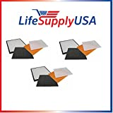 3 Pack Filter Kit Fits Rabbit Air Air Minus A2 SPA-780A & SPA-780A, by LifeSupplyUSA