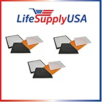 3 Pack Filter Kit Fits Rabbit Air Air Minus A2 SPA-780A & SPA-780A by LifeSupplyUSA