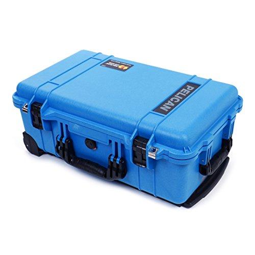 Pelican Blue & Black 1510 Case. No Foam - empty. With wheels.
