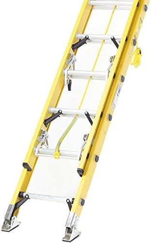 TB Davies Trade 2,6 m (259,99 cm) Doble de electricista de fibra de vidrio de extensión Rebecca hose - Non-Meseta para las   Con cuerda   INC. Articulado pies de seguridad: Amazon.es: