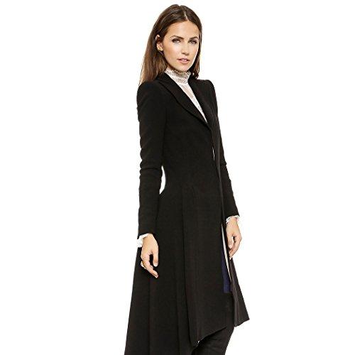 avec Uniforme Punk Stailpunk Manteaux Noire Femme Veste mioim Gothique Costume Manteau Carnaval Longue Trench Cosplay qRUwnP