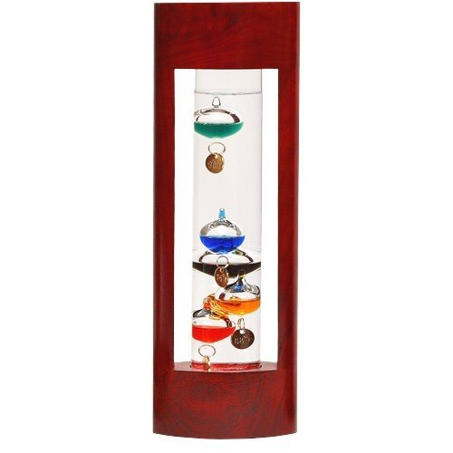 G.W. Schleidt YG615 CS 12 in. Multicolor Galileo in Cherry Finish Wood Stand Case by G W Schleidt