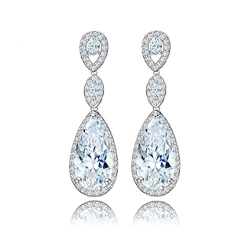 - Maerye Inlaid zircon plated Platinum ear Earring
