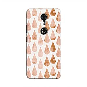 Cover It Up - Brown drops Gionee A1 Hard case