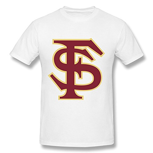 (PAYYAND Men's Florida State University Cufflinks T-shirt White XXL)