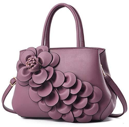 Femme Main Purple à DéContracté B Cuir en Sac 5FX0xwqq