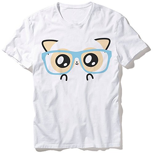 T-Shirt Mixte Pouny Pouny Face de geek chibi et kawaii Fabriqué en France - Licence officielle Pouny Pouny - Chamalow shop