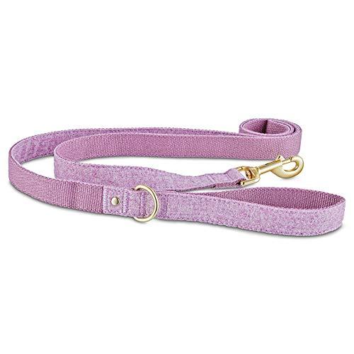Bond & Co. Lavender Tweed Dog Leash, 6 ft, Standard, Purple