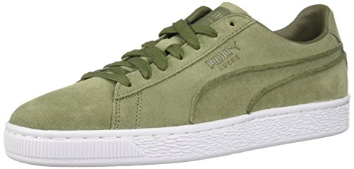 PUMA Men's Suede Classic Exposed Seams Sneaker, Capulet Olive 9 M US