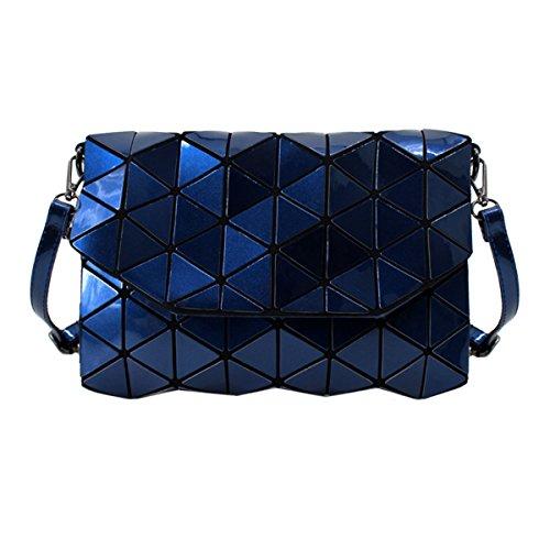 Leather Fashion Shoulder Handbag Dark Womens Blue Bag Laser Meliya Clutch Holographic Envelope Purse w15SqIqx