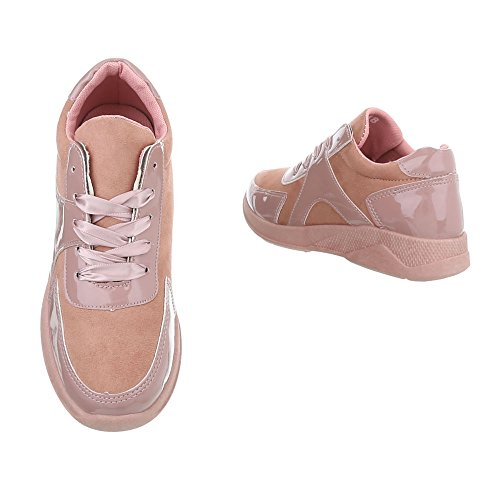 Femme Chaussures Mode Design Low Sneakers Plat Rose Baskets Espadrilles Ital PqOEBnH1wn