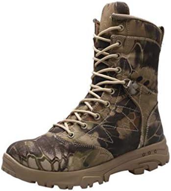 軍事戦術ブーツマイクロファイバーレザーは暖かい迷彩ハイヘルプレースアップスタイルの登山靴滑り止め耐摩耗ラバーソールをキープ (色 : マルチカラー, サイズ : 25.5 CM)