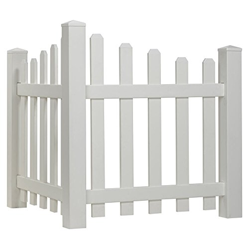 Outdoor Essentials Scalloped Picket Accent Fence with Dog Ear Shaped Cap ()