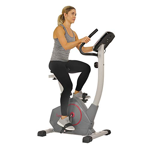 Sunny Health & Fitness Stationary Upright Exercise Bike with Performance Monitor, Tablet/iPad Device Holder, 275 LB Max…