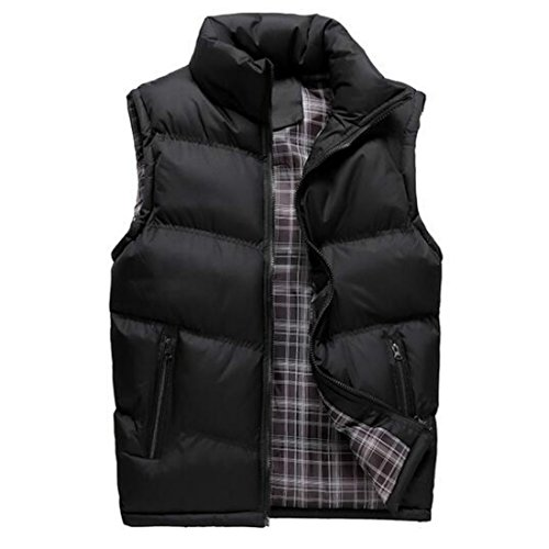 Colygamala Men's Fall and Winter Quilted Sports Down Vest Lightweight Packable Down Waistcoat 2017072501-BL-XL-T3XL