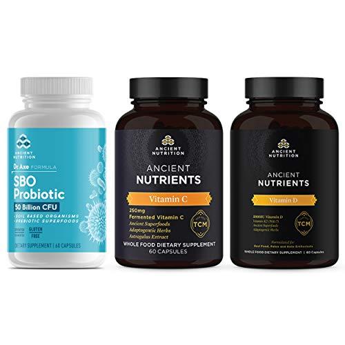 Ancient Nutrition SBO Probiotic + Vitamin C + Vitamin D