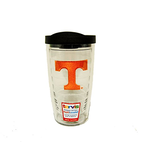 Tervis 1056595 Tennessee Volunteers Logo Tumbler with Emblem and Black Lid 16oz, (Tennessee Volunteers Tervis Tumbler)