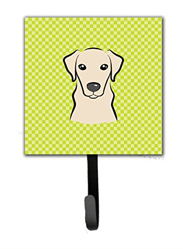 picture of Checkerboard Lime Green Yellow Labrador Leash or Key Holder BB1284SH4