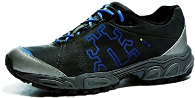 Icebug Men's Heros Bugrip Running Shoe,Black/Steel Blue,7.5 M US