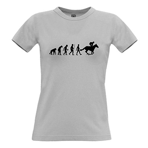 Tim And Ted Hobby Womens T-Shirt Evolution of Horse Riding Equestrian Bridle Racing