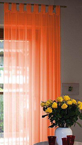 Voile Schlaufenschal 140x245cm orange