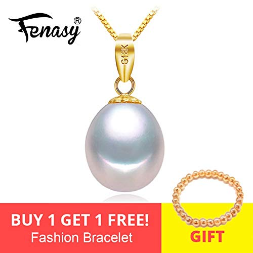 Pearl Jewelry - 18k Gold Peandant Pearl Jewelry Necklaces and Pendant for Lovers Brand Party Pearl Pendants Send S925 Silver Necklaces - Purple